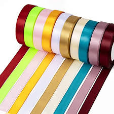 Fashewelry 20mm Fabric Ribbon Mixed Solid Colors ... - Amazon.com