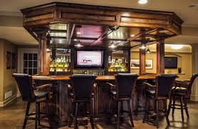 basement bar ideas applied for cozy gathering and entertaining amazing home interior exposing high chairs archetype built home bar cabinets tv