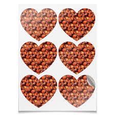 Наклейки-сердца 7.5x9.7см <b>Дикая малина</b> #2618028 – заказать ...