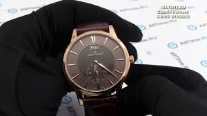Обзор. Мужские наручные <b>часы Claude Bernard 64005</b>-<b>37RBRIR</b> ...