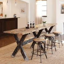 dining room long kitchen table rustic gathering table pub bar counter height dining room kitchen furniture f