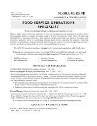 examples of food service resumes template examples of food service resumes