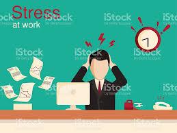 new job stress work infographic stress on work stock vector art new job stress work infographic stress on work royalty stock vector art