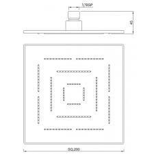 <b>Верхний душ</b> 200 мм <b>Jaquar Maze</b> OHS-CHR-1619, купить в ...