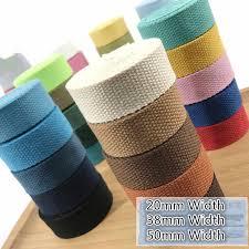5meter 30mm <b>width</b> Canvas Ribbon Polyester <b>Cotton</b> Webbing ...