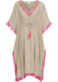 <b>Платье</b> с окантовкой <b>бежевый</b>/ярко-розовый - RAINBOW - bonprix ...