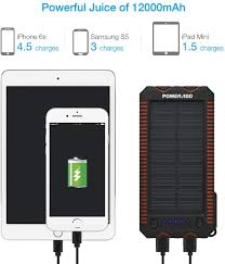 POWERADD Apollo 2 <b>Solar Charger</b> 12000mAh <b>Portable</b> Solar ...