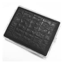 <b>Портсигар</b> S.Quire, сталь+натуральная кожа, <b>чёрный</b> цвет с ...