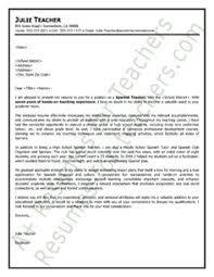 social studies teacher cover letter sample   teacher and principal    spanish teacher cover letter sample
