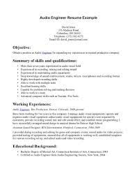 audio engineer resume   best template collectionaudio engineer resume cover letter