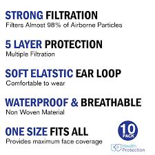 <b>10 PCS KN95</b>/<b>N95</b> P2 Face <b>Mask</b> 5 Layers <b>Respirator Mask</b> ...