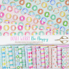 <b>Donut Worry, Be Happy</b> Fabric by Erin Anne Designs - Hawthorne ...