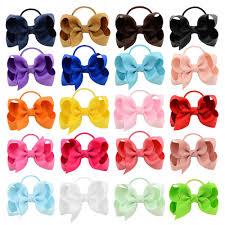 13 colors 10pcs/lot <b>High</b> Quality Boutique Ribbon <b>Elastic</b> Hair Bands ...