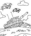Мои раскраски танки