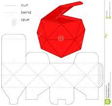 template present box red cut square casket royalty stock template present box red cut square casket