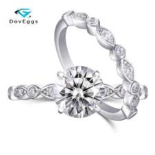 2019 <b>DovEggs Sterling Solid S925</b> Center 1.5ct 7.5mm GH Color ...