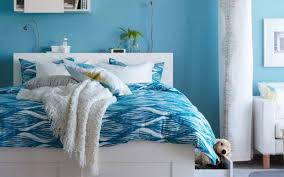 bedroom designs amazing paint colors for teenage bedrooms using adorable blue wall and white bed with patterned adorable blue paint colors
