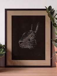 Linocut <b>Rabbit</b> Letterpress
