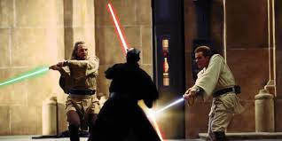 Image result for Star Wars Episode 1 The Phantom Menace film stills lightsaber battle