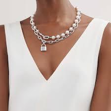 <b>Колье</b> Tiffany HardWear с замком, стерлинговое серебро с ...