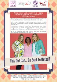 get back into netball th phoenix sports leisure centre workplace netball poster