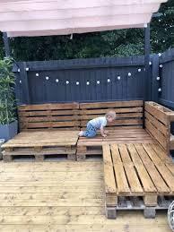 Easy <b>Pallet Corner Sofa</b> | <b>Garden</b> furniture design, Diy <b>garden</b> ...