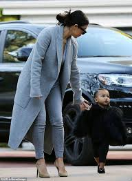 Kim Kardashian dresses North in designer fur coat for spa day ... via Relatably.com
