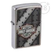 <b>Зажигалка ZIPPO 207 Harley-Davidson</b> с покрытием Street Chrome