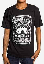 Mens - Johnny Cash - Man in Black - T Shirt in Black ... - Amazon.com