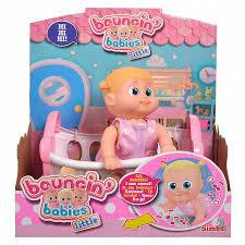 Кукла Бони 16 см ползающая, с кроваткой 803002 <b>Bouncin</b>' <b>Babies</b>