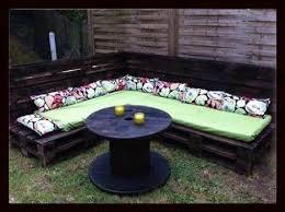 1001 Gardens - <b>Garden Pallet Corner Sofa</b> - Salon De Jardin ...