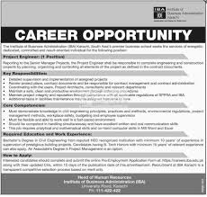 institute of business administration iba karachi jobs institute of business administration iba karachi 2017 jobs