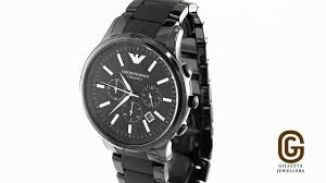 armani ceramic chronograph men s watch ar1451