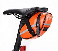 Bicycle Saddle Bag from Leisure Realm (orange ... - Amazon.com