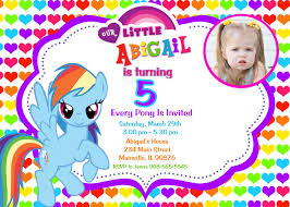 my little pony birthday party invitations baby shower for parents rainbow design my little pony birthday party invitation custom photo