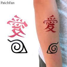 <b>2pcs</b>/<b>set Patchfan</b> Naruto diy Cool Temporary Body Art Tattoo ...