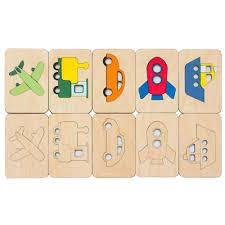 <b>Карточки</b>-<b>раскраски Wood</b> Games, транспорт