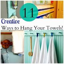 ways hang towels bathroom maybe one of these solutions will be perfect for you or me