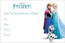 frozen printable birthday party invitation personalized party frozen printable birthday party invitation