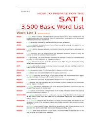 barron basic word list for sat studypool