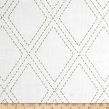 decor linen fabric multiuse: jaclyn smith  embroidered diamonds dove gray