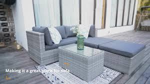 Avalon <b>5 Piece</b> Sofa Set - <b>Garden</b> Furniture - YouTube