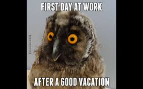 first day at work after a good vacation first day at work after a good vacation