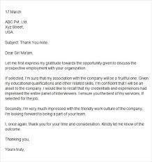 Sample Thank You Letter After Interview - 15+ Free Documents in ... Thank You Letter After Second Interview