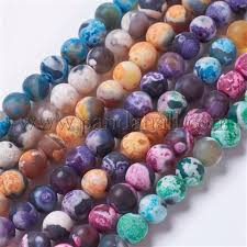 Wholesale Natural Agate Bead Strands, Dyed & Heated, Frosted ...