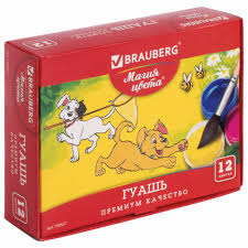 <b>Гуашь BRAUBERG</b> «МАГИЯ ЦВЕТА», <b>12</b> цветов по 20 мл, без ...