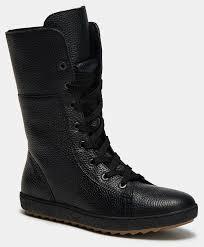 <b>Высокие ботинки</b> женские CLAIRE (цвет черный, натуральная ...