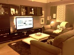 living room tv brown leather single gorgeous small living room ideas ikea design with gray fabric sofa and