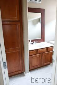bathroom layout ideas rustic wooden vanity: before generic and charmless rebecca zajac small bathroom remodel beforejpgrendhgtvcom