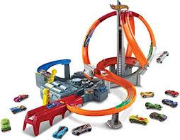 Hot Wheels Spin Storm Track Set Orange Track High ... - Amazon.com